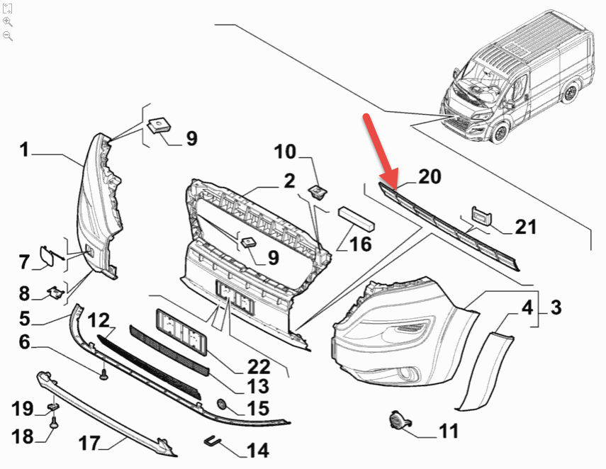forkofanger gitter fiat ducato chassis  250  290  115